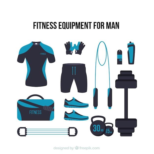 Modernen fitnessgeräten für den menschen Kostenlosen Vektoren