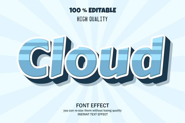 Moderner 3d-texteffekt, bearbeitbarer schrifteffekt Premium Vektoren