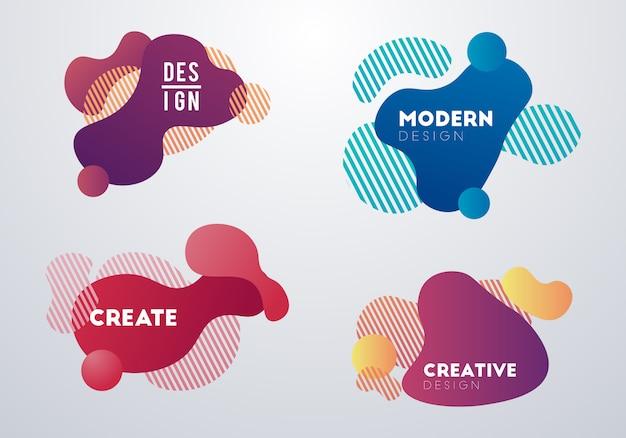 Moderner abstrakter designhintergrund Premium Vektoren