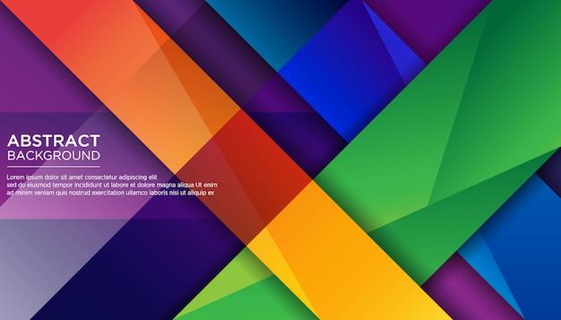 Moderner abstrakter geometrischer bunter hintergrund Premium Vektoren