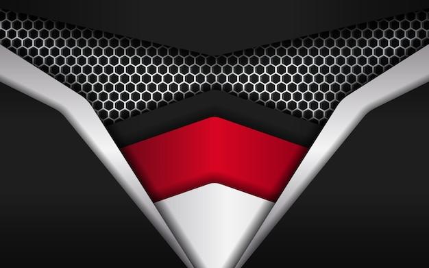 Moderner abstrakter hexagonhintergrund mit tiefem effekt und deckung mögen ninja-gesicht Premium Vektoren