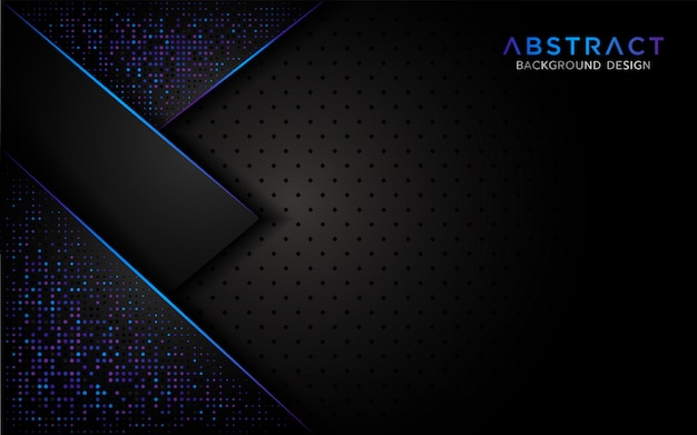 Moderner abstrakter hintergrund mit aurora-funkelnpartikel Premium Vektoren