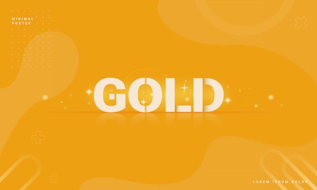 Moderner abstrakter hintergrund mit einem goldenen konzept Premium Vektoren