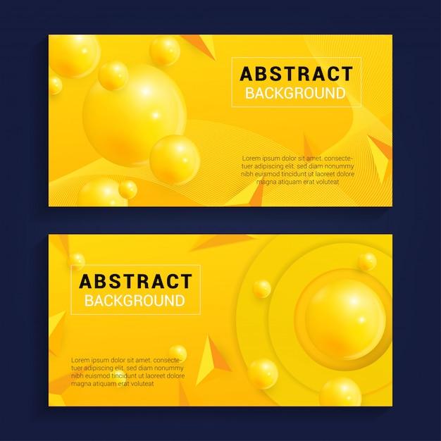 Moderner abstrakter hintergrund mit gelber farbe Premium Vektoren