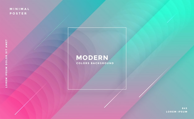 Moderner abstrakter modischer bunter geometrischer hintergrund Kostenlosen Vektoren