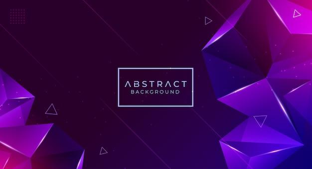 Moderner abstrakter polygonaler hintergrund Premium Vektoren
