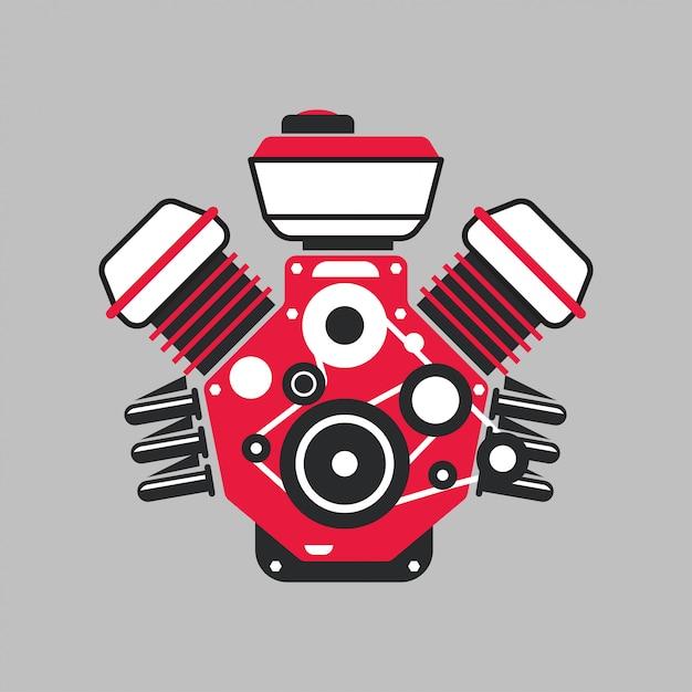 Moderner automotor Premium Vektoren