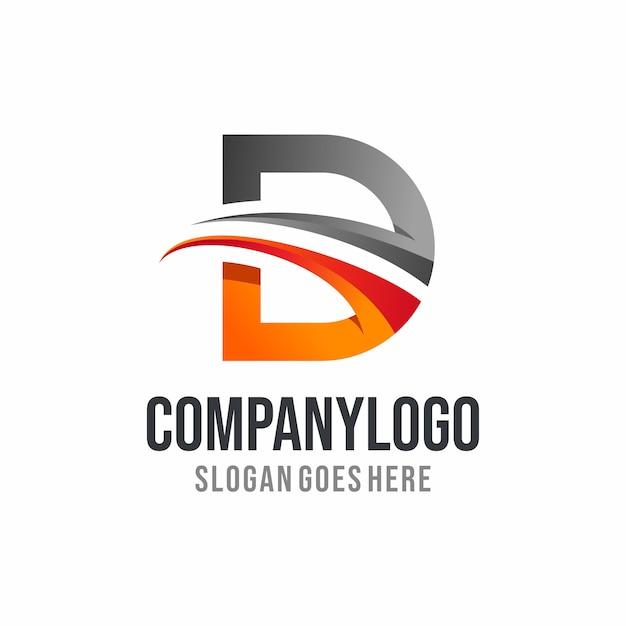 Moderner buchstabe d-logoentwurf Premium Vektoren