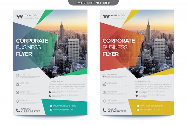 Moderner business-flyer Premium Vektoren