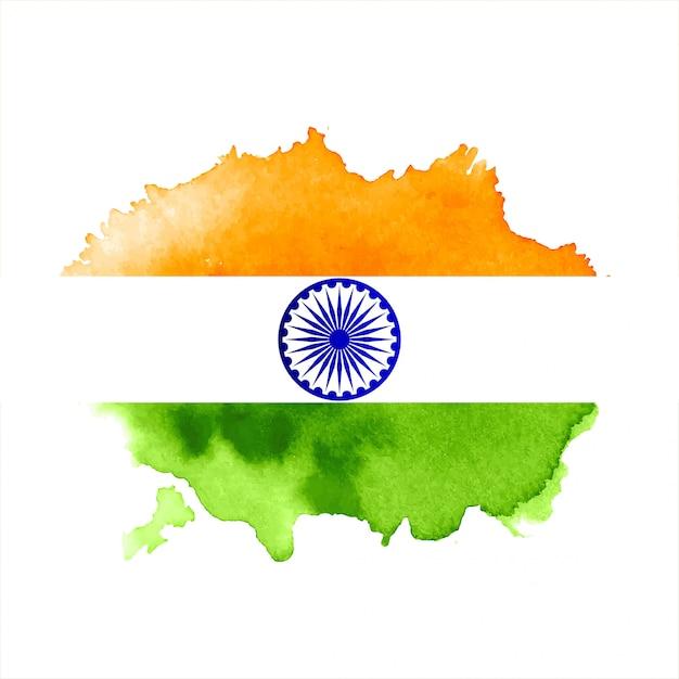 Moderner dreifarbiger indischer flaggenthemahintergrund Kostenlosen Vektoren
