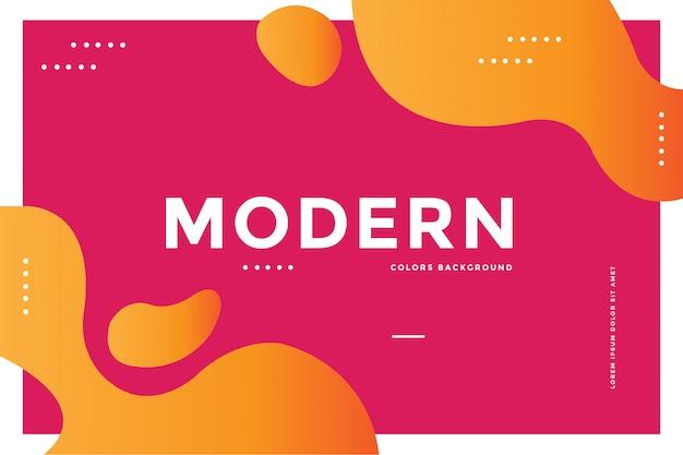 Moderner farbhintergrund Premium Vektoren