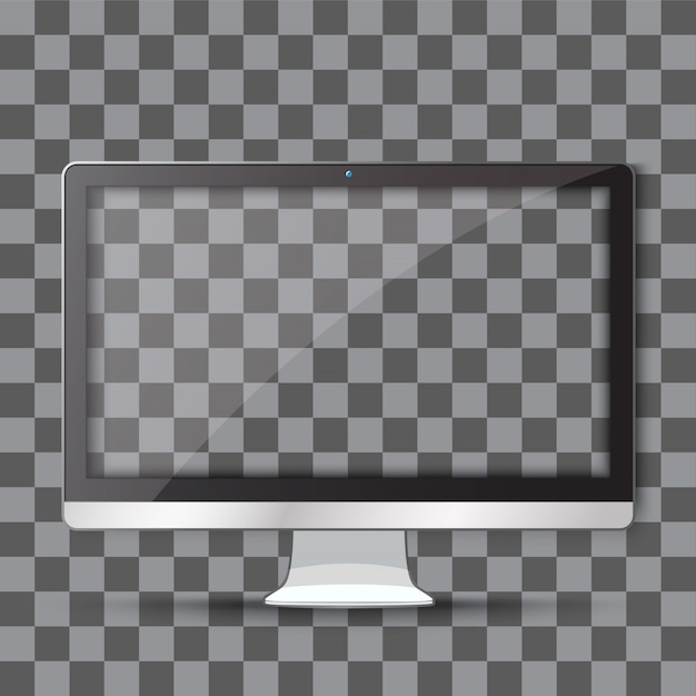 Moderner fernseher mit transparentem Premium Vektoren