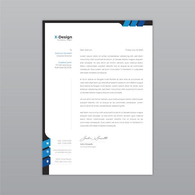 Moderner firmenbriefkopf Premium Vektoren