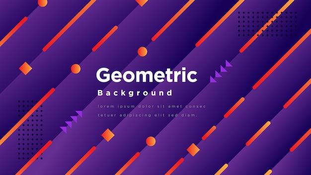 Moderner geometrischer hintergrund Premium Vektoren