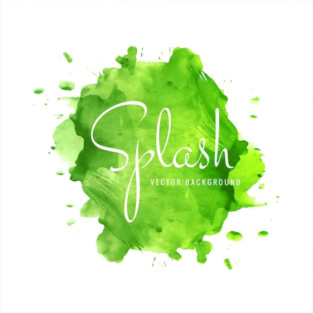 Moderner grüner aquarellspritzenhintergrund Kostenlosen Vektoren