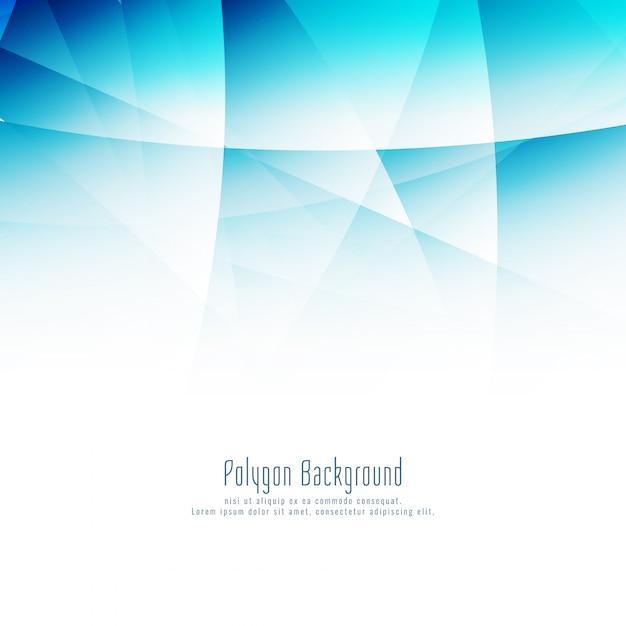 Moderner hintergrund des abstrakten blauen polygons Kostenlosen Vektoren