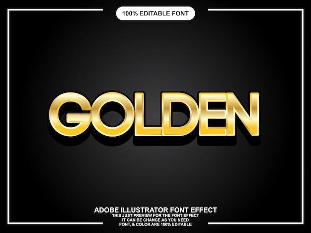 Moderner mutiger goldener grafischer einfacher editable schriftart der art Premium Vektoren