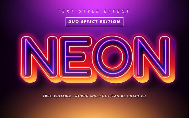 Moderner mutiger text-art-neoneffekt Premium Vektoren