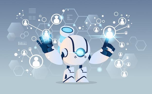 Moderner roboter Premium Vektoren