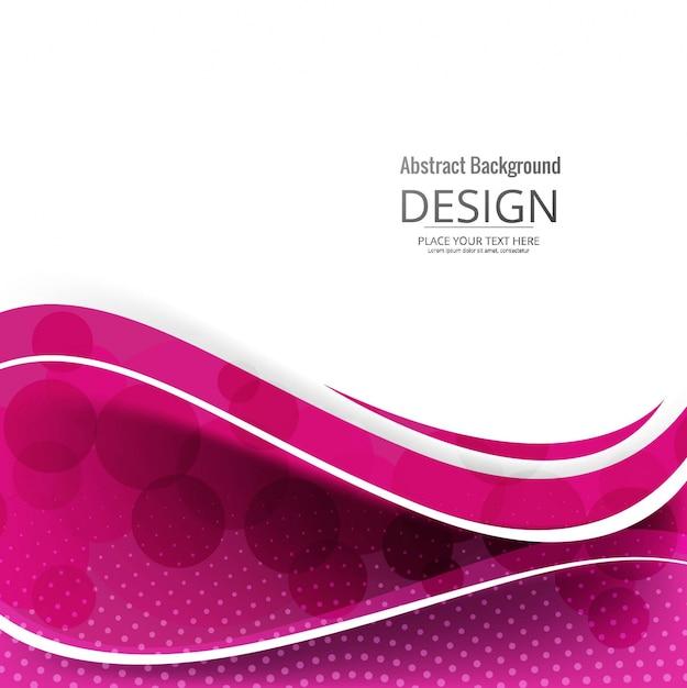 Moderner rosafarbener wellenförmiger hintergrund Kostenlosen Vektoren