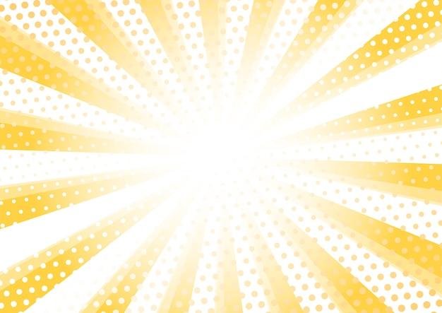 Moderner sonnendurchbruch halbtonmusterhintergrund Premium Vektoren