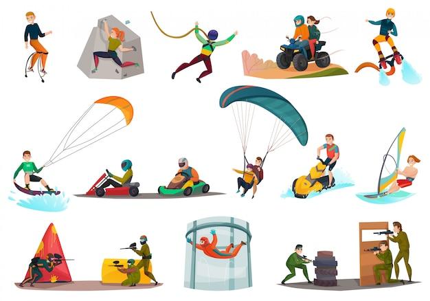 Moderner sport und unterhaltung eingestellt Kostenlosen Vektoren