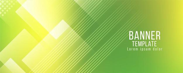 Moderner stilvoller grüner fahnenschablonenvektor Kostenlosen Vektoren