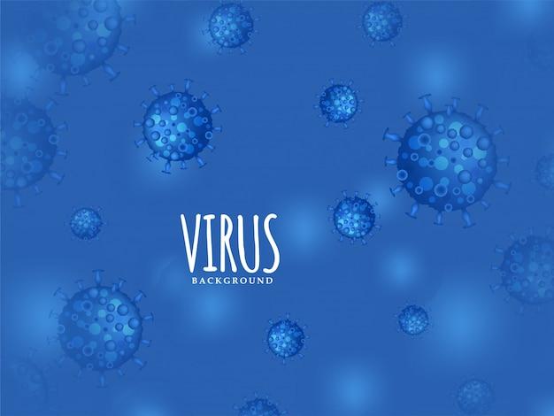Moderner virus infizierter blauer hintergrund Kostenlosen Vektoren