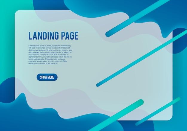 Moderner web-landing-page-hintergrund Premium Vektoren