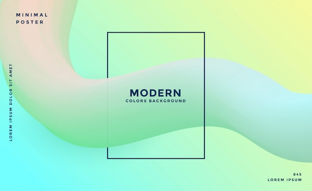 Moderner weicher abstrakter hintergrund der farbe 3d Kostenlosen Vektoren