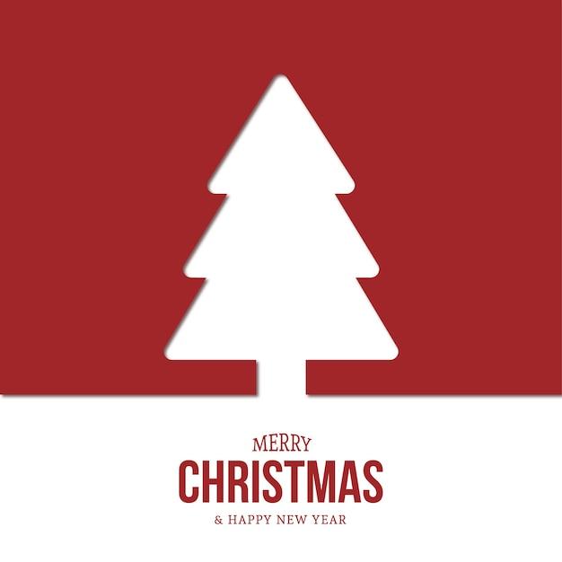 Moderner weihnachtsbaumhintergrund mit flachem design Kostenlosen Vektoren
