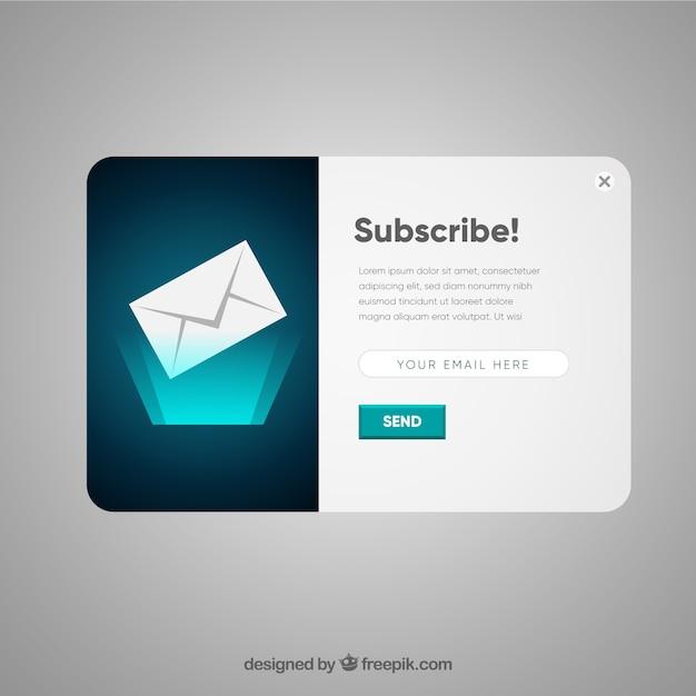 Modernes abonnement pop-up mit flachem design Kostenlosen Vektoren