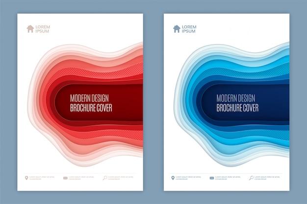 Modernes abstraktes design der abdeckung 3d Premium Vektoren