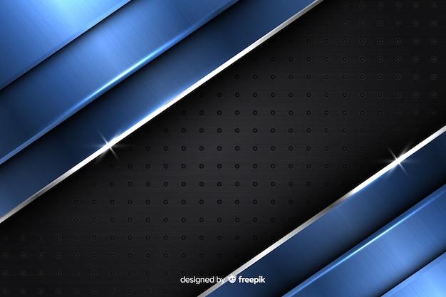 Modernes abstraktes metallisches blaues hintergrunddesign Kostenlosen Vektoren