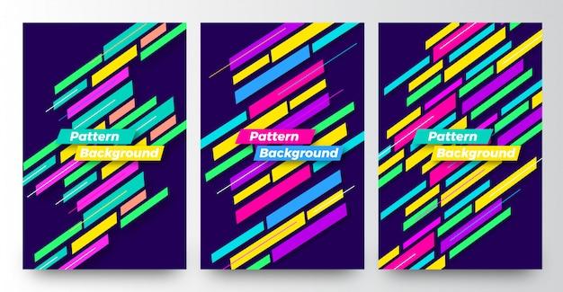 Modernes abstraktes musterhintergrund-schablonenbühnenbild Premium Vektoren