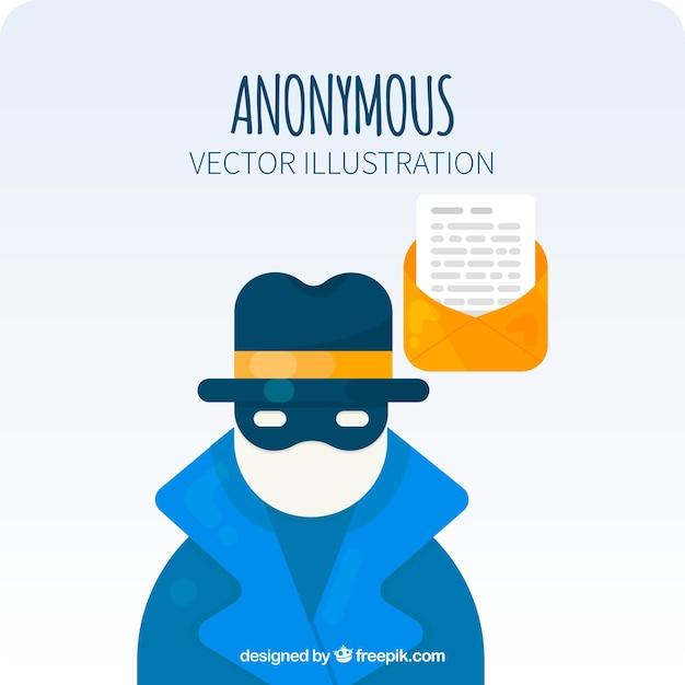 Modernes anonymes konzept mit flachem design Kostenlosen Vektoren