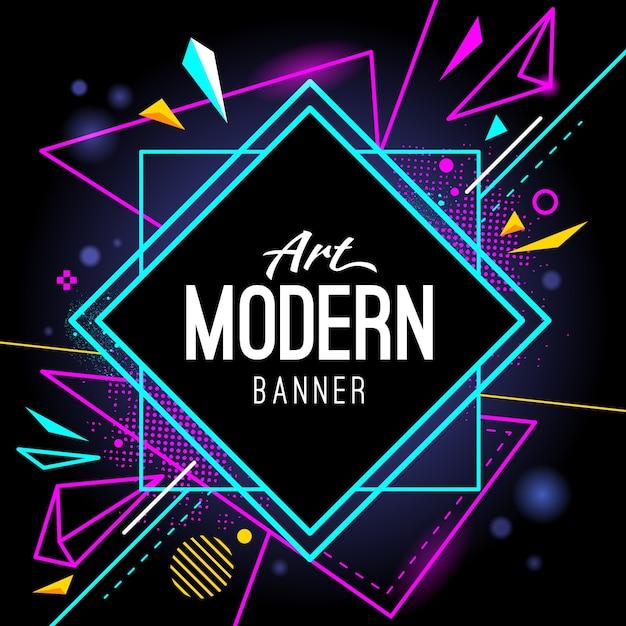 modernes Banner Kostenlose Vektoren