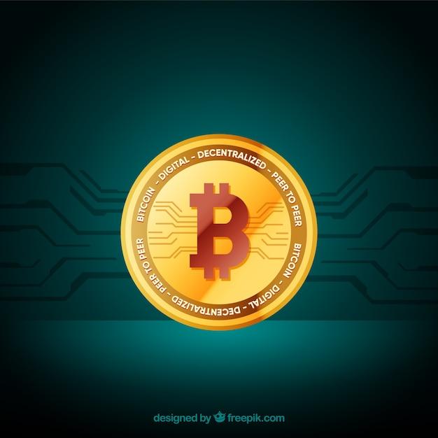 Modernes bitcoin-design Kostenlosen Vektoren