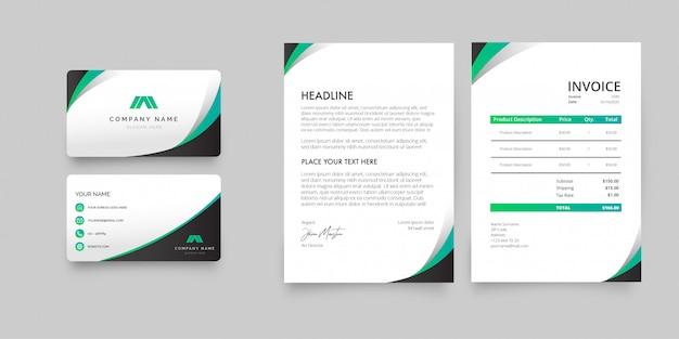 Modernes briefpapierpaket Kostenlosen Vektoren