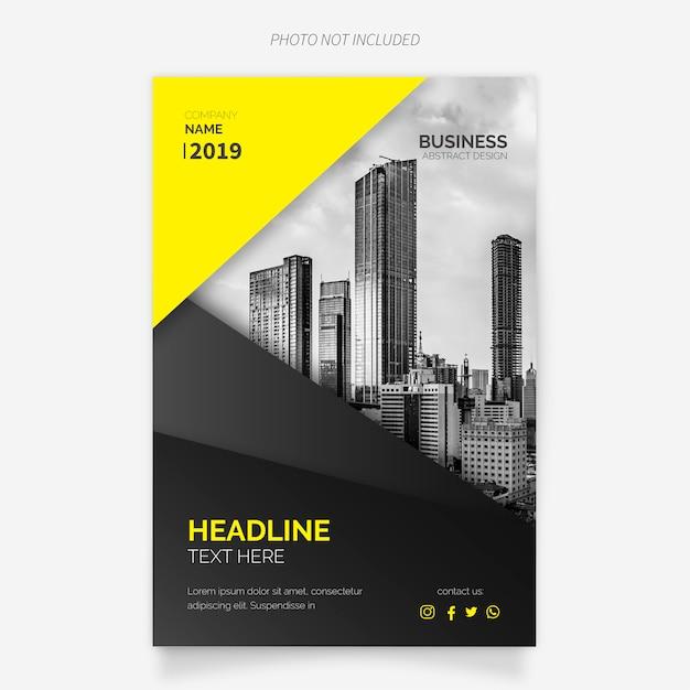 Modernes Business Broschüren Vorlage Kostenlose Vektoren