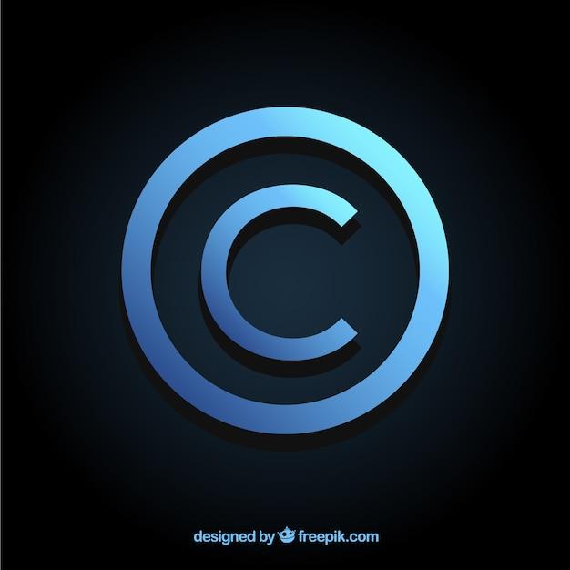 Modernes copyright-symbol Kostenlosen Vektoren