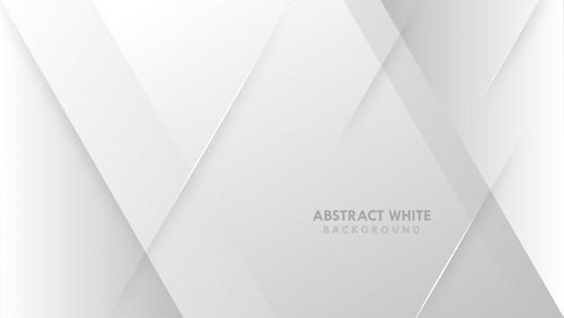 Modernes design des grauen weißen abstrakten hintergrundes Premium Vektoren