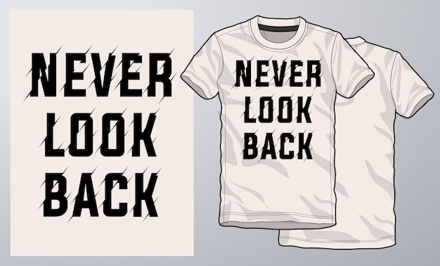 Modernes design des t-shirts und des kleides, typografie. Premium Vektoren