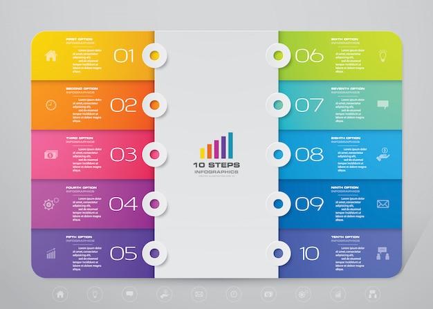 Modernes diagramm infographik element Premium Vektoren