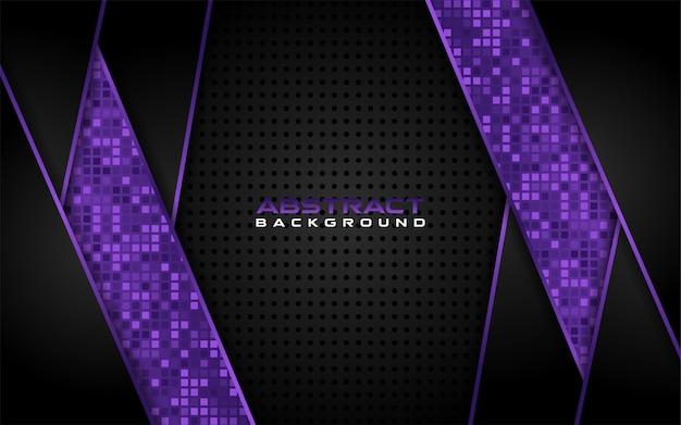 Modernes dunkel und purpur mit futuristischem formhintergrund Premium Vektoren