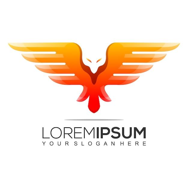 Modernes eagle logo design Premium Vektoren
