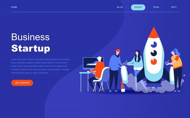 Modernes flaches designkonzept von startup your project Premium Vektoren