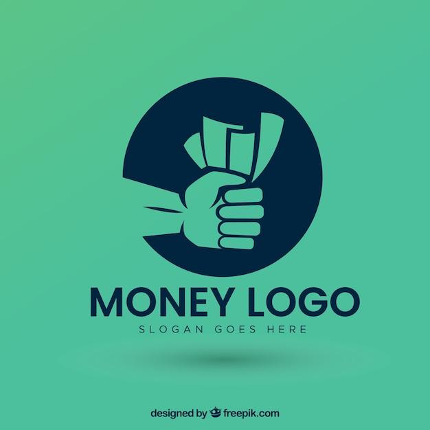 Modernes geld logo design Kostenlosen Vektoren