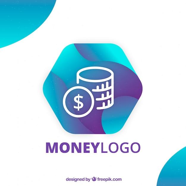 Modernes geld logokonzept Kostenlosen Vektoren