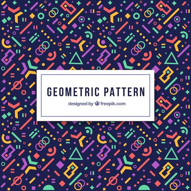 Modernes geometrisches muster mit futuristischen formen Kostenlosen Vektoren